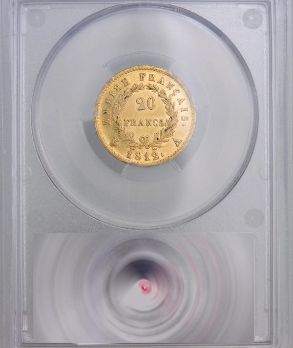 Napoleon I 20 francs 1812 Paris PCGS AU53