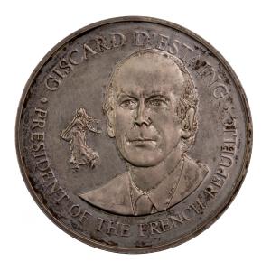 Médaille Valérie Giscard d'Estaing 1976