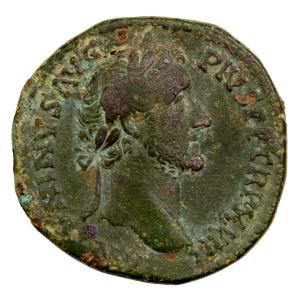 Antonin le Pieux sesterce frappé à Rome en 154-155