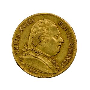 Louis XVIII 20 Francs 1815 Bordeaux 5 sur 4
