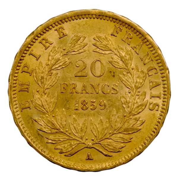 Napoleon III 20 francs 1859 A