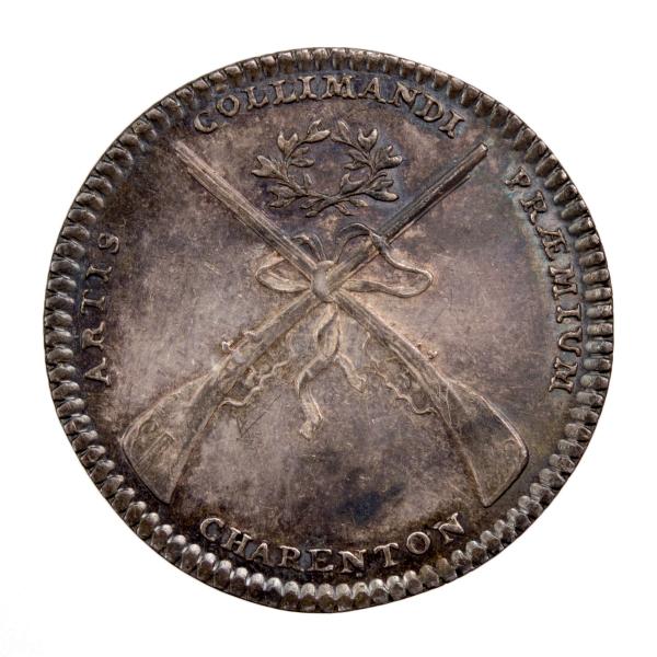 Louis XV jeton des arquebusier d'Ile de France, Charenton