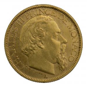 Monaco 100 francs 1886