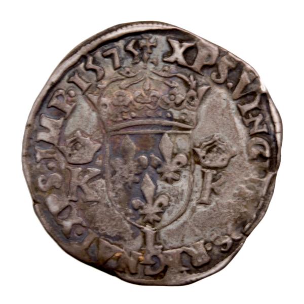 Charles IX teston 1575 Bayonne