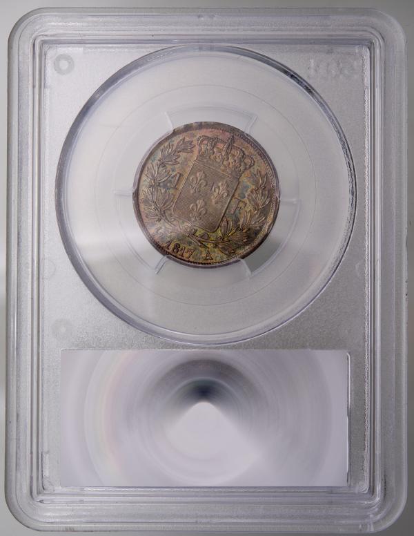 Louis XVIII 1 franc 1817 Paris PCGS MS64