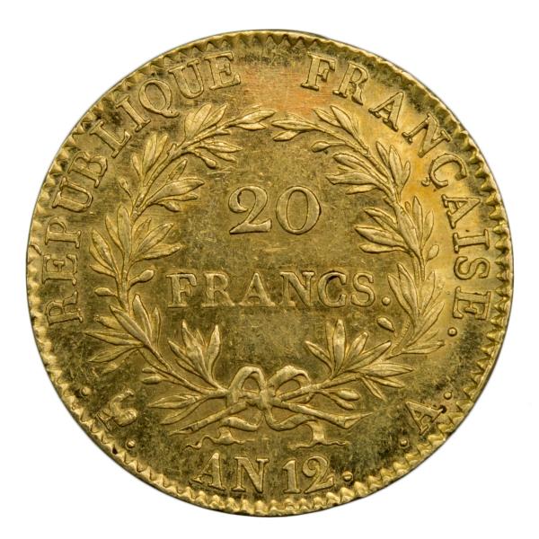 Napoleon I 20 francs An 12 Paris PCGS AU58