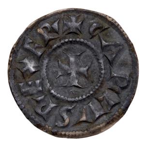 Charlemagne denier frappé à Milan