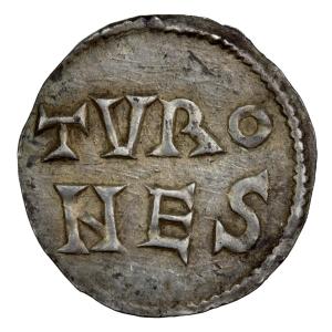 Louis le Pieux denier frappé à Tours