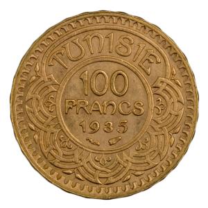 Tunisie 100 francs 1935
