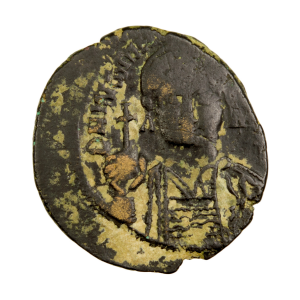 Justinian I Æ half-Follis Carthage mint Second officine