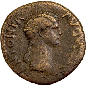 Antonia dupondius frappé à Rome en 41-42