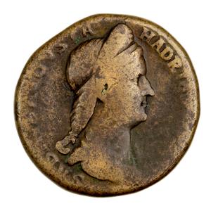 Sabine sesterce frappé à Rome en 133