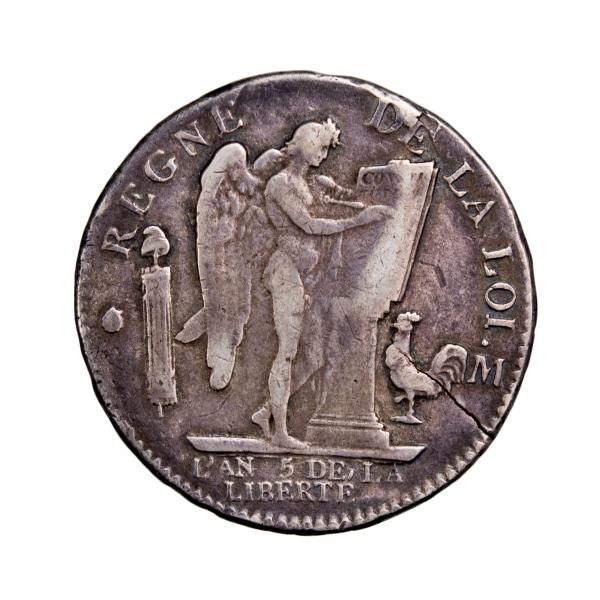 Constitution Ecu de 6 livres 1793 Toulouse