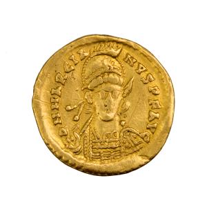 Marcian solidus frappé à Constantinople 450-457