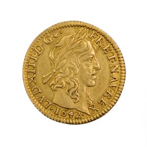 Louis XIII demi louis 1642 Paris