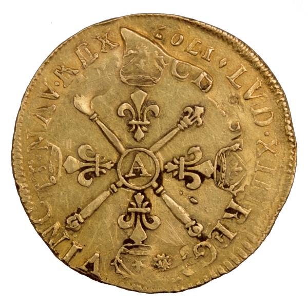 Louis XIV double louis aux insignes 1704 Paris réformation