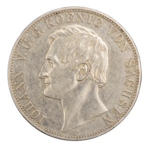 Saxe 2 thaler 1855 F