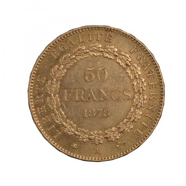 50 francs 1878 A