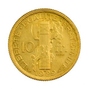 Essai 10 francs Morlon 1929 Bronze Alu