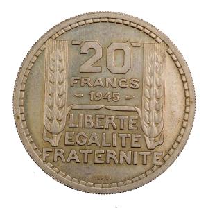 Gvt provisoire 20 francs 1945 ESSAI
