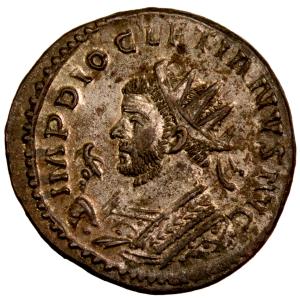 Diocletien antoninien frappé à Lyon en 289-90