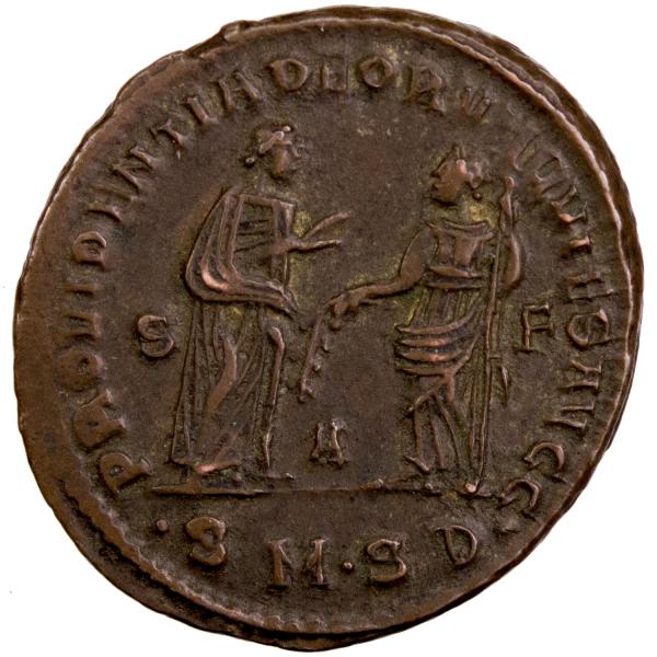Diocletien follis frappé à Serdica 305-6