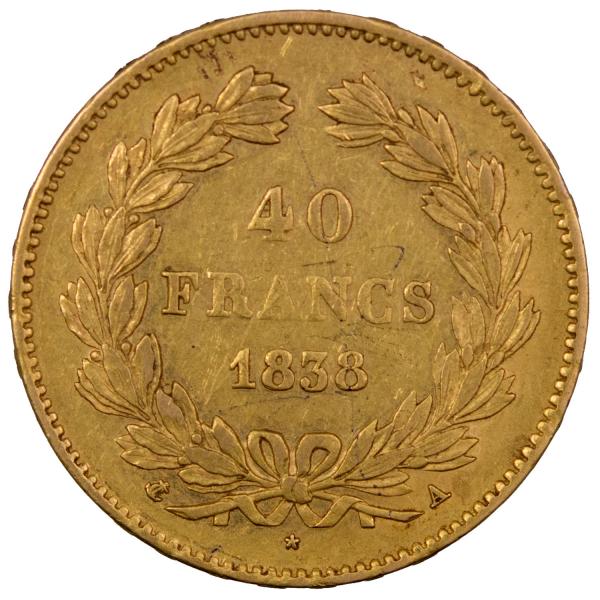 Louis Philippe 40 francs 1838 Paris