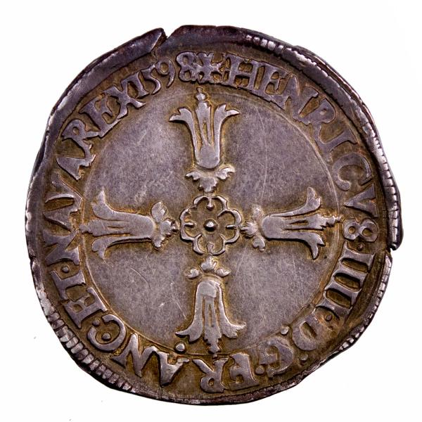 Henri IV quart d'ecu 1598 Nantes