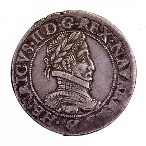 Bearn Henri II Franc 1584 Pau