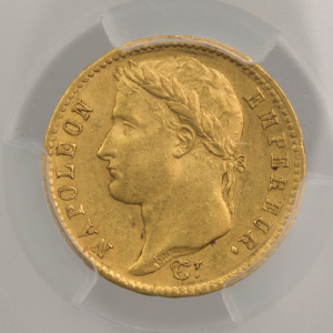 Napoleon I 20 francs 1813 Paris PCGS MS61