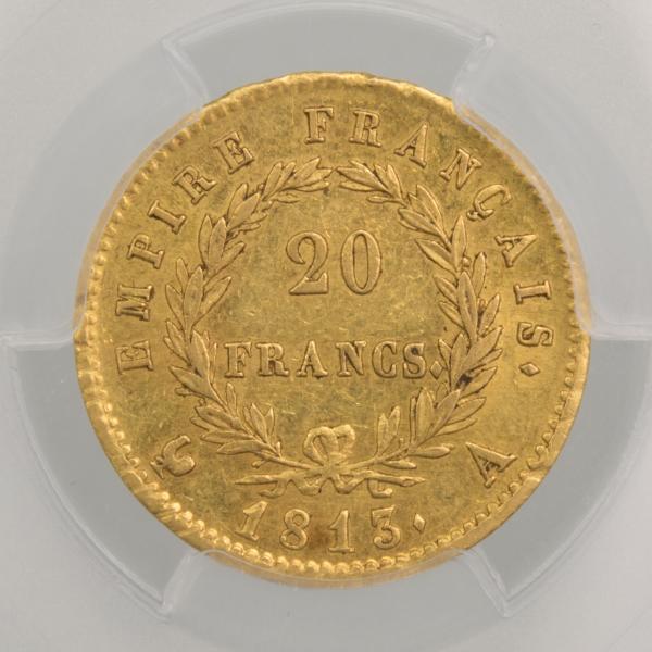 Napoleon I 20 francs 1813 Paris PCGS MS61