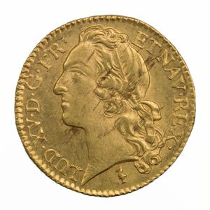 Louis XV louis au bandeau 1744 Lille