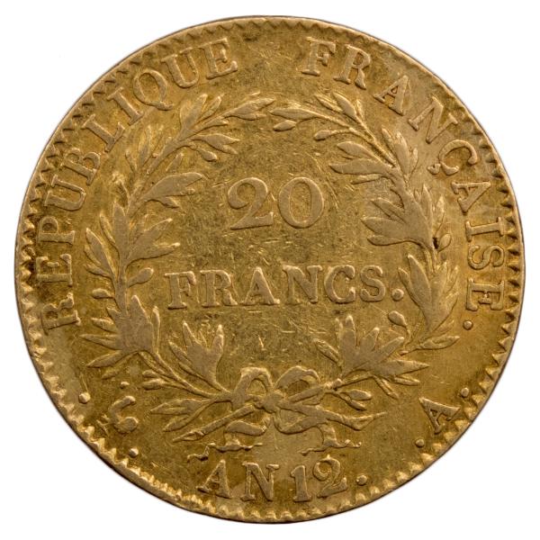 Napoleon I 20 francs An 12 Paris