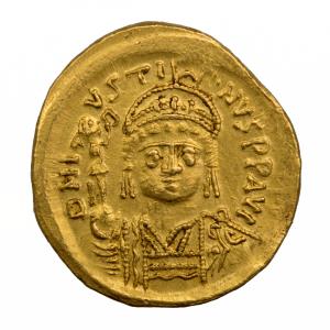 Justin II solidus frappé à Constantinople