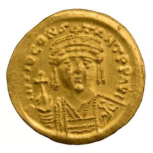 Tibere II Solidus frappé à Constantinople