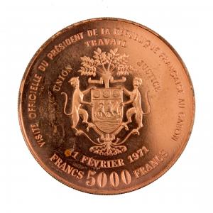 Gabon 5000 francs Pompidou Essai 1971