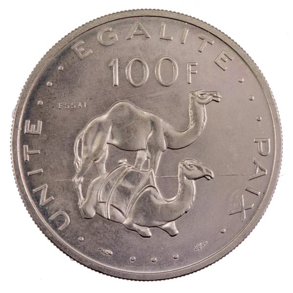 Djibouti 100 francs 1977 Essai