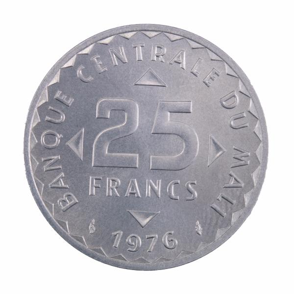 Mali 25 francs 1976 Essai