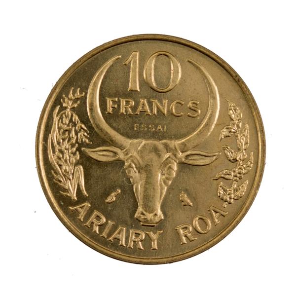Madagascar 10 francs 1970 Essai
