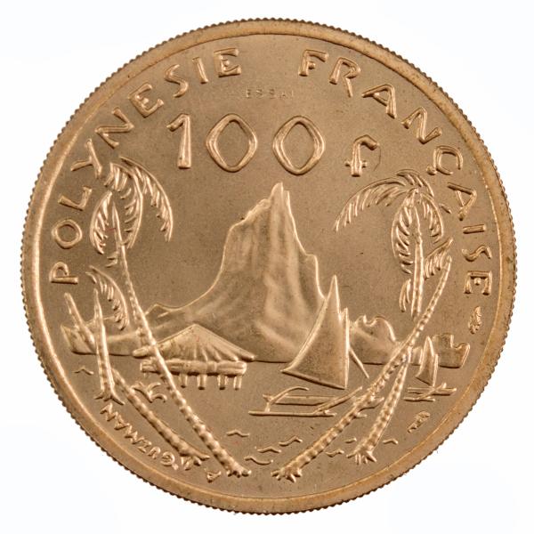 Polynesie francaise 100 francs 1976 Essai