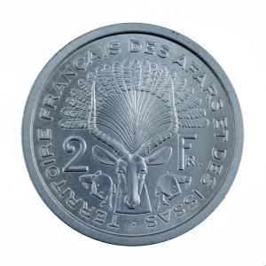 Djibouti Afars 2 francs 1968 Essai