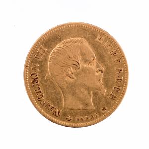 Napoleon III 10 francs 1855 Strasbourg
