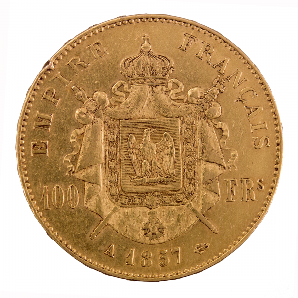 Napoleon III 100 francs 1857 Paris