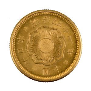 Japon 10 yen 1908 année 41