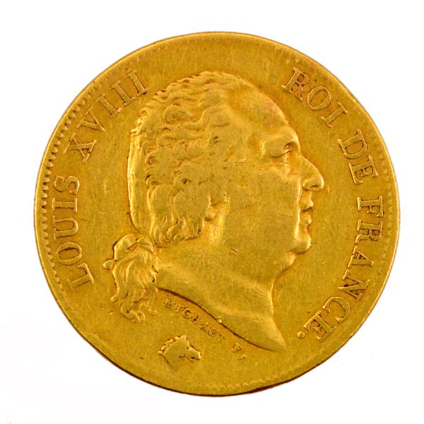 Louis XVIII 40 francs 1816 Bayonne