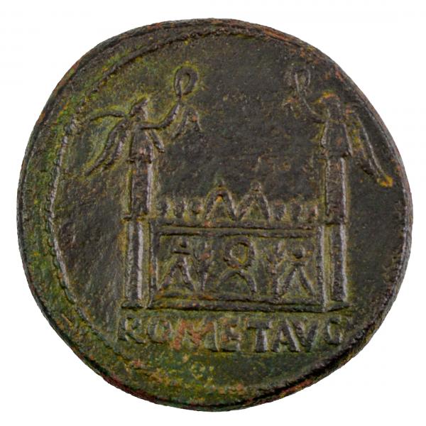 Auguste sesterce à l'autel de Lyon