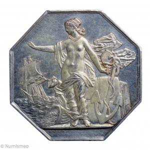 Napoléon III jeton 1869 Insurance compagnie la prévoyance