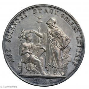 Louis Philippe jeton concours général sciences et belles lettres 1844