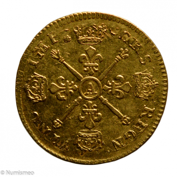 Louis XIV louis aux insignes 1704 ou 5 Paris
