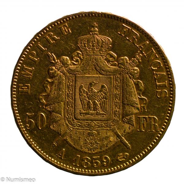 Napoléon III 50 francs 1859 Paris